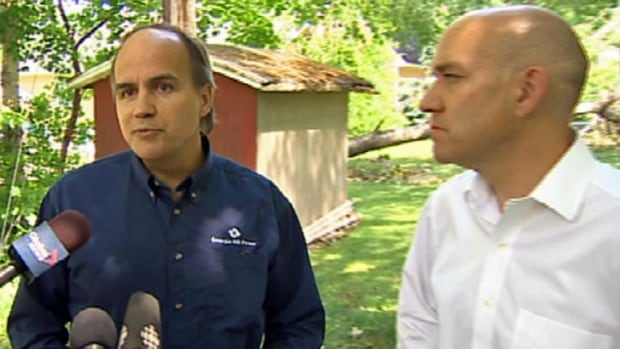 Energy Minister Craig Leonard appeared with Gaetan Thomas, the president and chief executive officer of NB Power, during the clean-up efforts of post-tropical storm Arthur. Leonard said he doesn't think NB Power needs to undergo an independent review of its handling of recent blackouts.