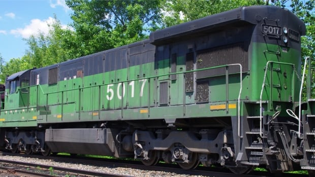 """Locomotive 5017 was leading """"the train from hell"""" the night a 72-tanker car train derailed and exploded in Lac-Mégantic."""