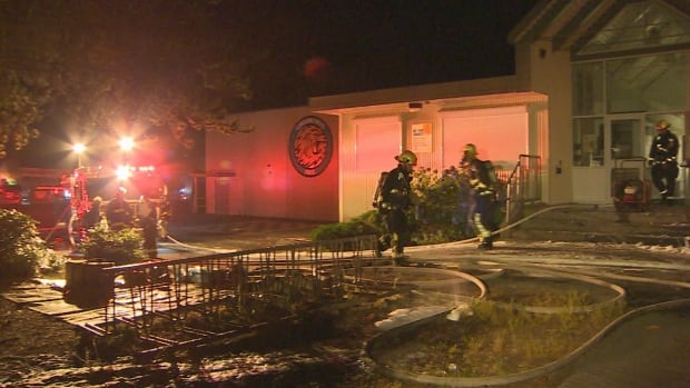 An early morning fire caused extensive damage to Sunshine Hills Elementary in Delta, B.C.