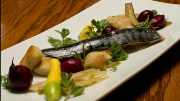 Rich Wilson features local fennel and potatoes in his smoked mackerel recipe.