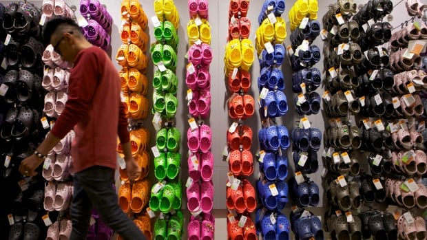 A Crocs store in Los Angeles.  The company announced today it is closing or converting 75 to 100 stores worldwide.