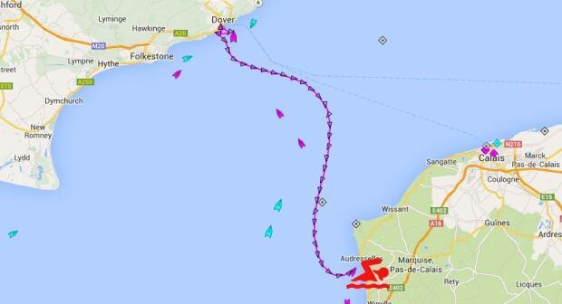 Map of Meghan Chisholm's journey skpic