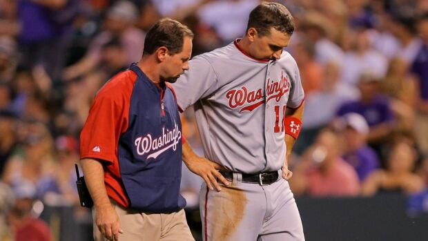 Washington Nationals third baseman Ryan Zimmerman missed 44 games with a fractured right thumb earlier this season.