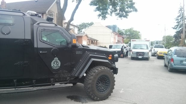 "Hamilton police have deployed an armoured rescue vehicle as they investigate an ""active incident."""