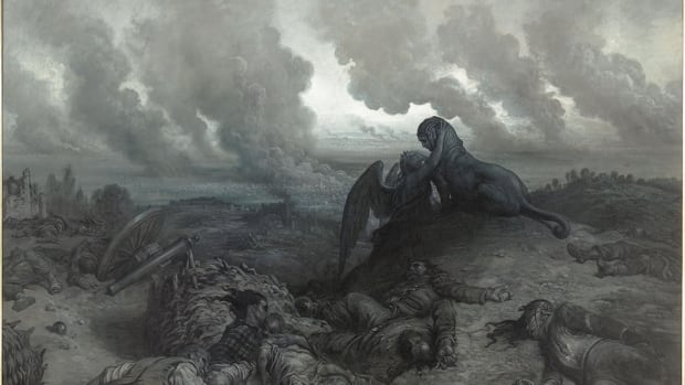 Gustave Doré's The Enigma, 1871, is on display at Ottawa's National Gallery.