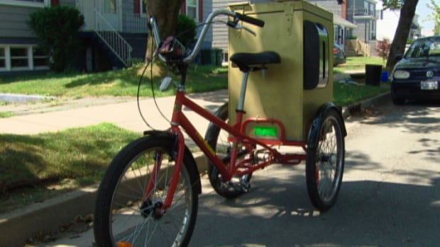Bill Wood's new bicycle will soon be carting coffee across the city if the proposed bylaw goes through.