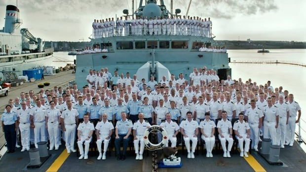 Group Photo of the ship's company of HMCS Toronto taken July 23, 2014.