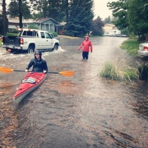 Kamloops flooding kayaker