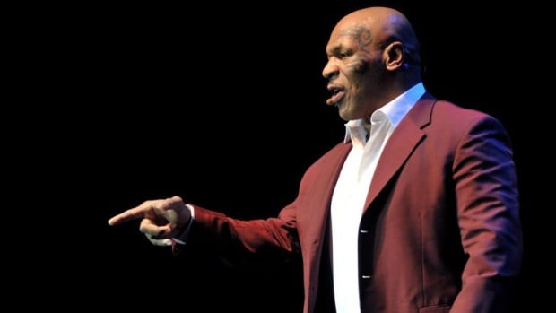 "Former boxer Mike Tyson performs his one-man show, ""Undisputed Truth,"" in Bethlehem, Penn., in February of 2014. He is bringing his show to Toronto this fall."