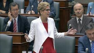 Premier Kathleen Wynne at the Ontario Legislature on July 24