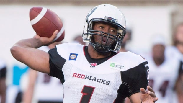 Ottawa Redblacks' quarterback Henry Burris is one of the oldest players in the CFL at 39,