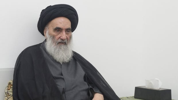 Iraq's top Shia cleric, Grand Ayatollah Ali al-Sistani, has urged political leaders to refrain from clinging to their posts - an apparent reference to Prime Minister Nuri al-Maliki, who is considered a polarizing figure who has fueled sectarian tensions. (UN handout/Reuters)