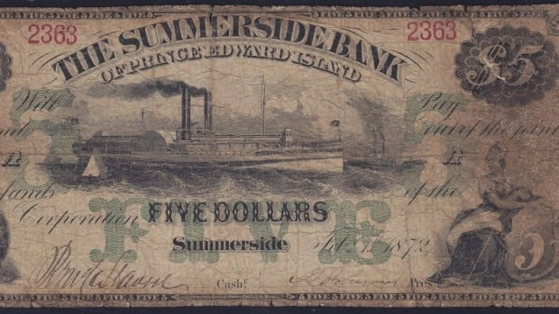 This rare Summerside Bank of P.E.I. $5 bill is up for sale on eBay.