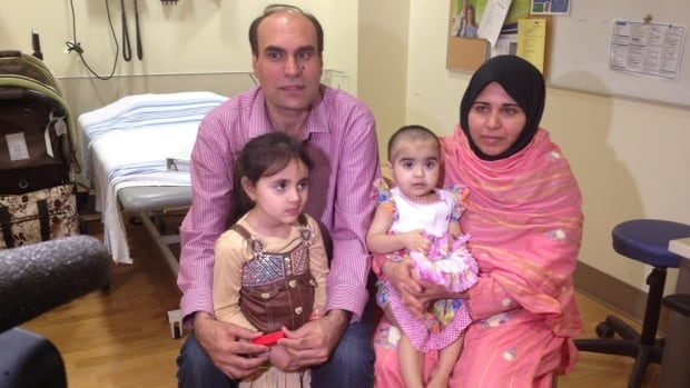 Nazdana Jan, second from right, is doing well after receiving an experimental liver therapy in Alberta two years ago.