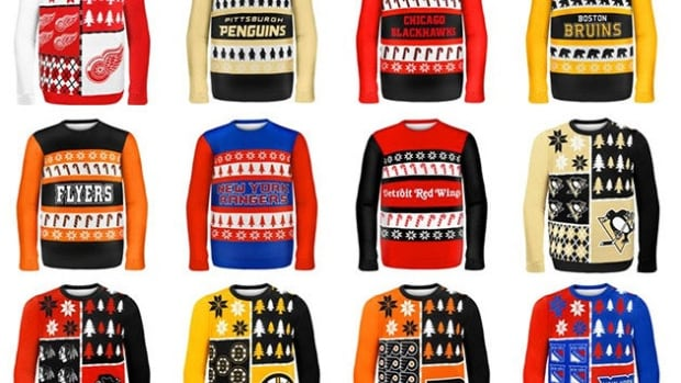Which one of the NHL's ugly Christmas sweaters do you think is the worst?