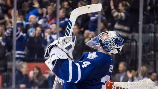Toronto Maple Leafs goaltender James  Reimer lost the starting job in Toronto to Jonathan Bernier last season, but was forced into service with Toronto's playoff hopes on