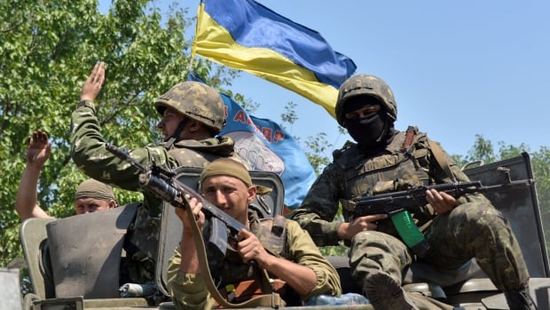 Ukrainian forces were outside Horlikva, just north of the regional centre of Donetsk.