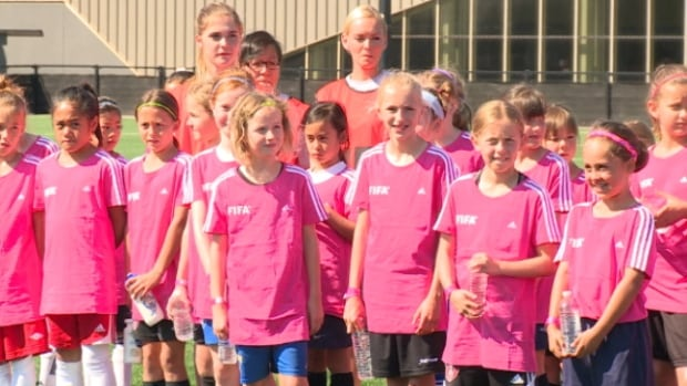 200 Edmonton girls participated in FIFA's Live Your Goals festival on Sunday.