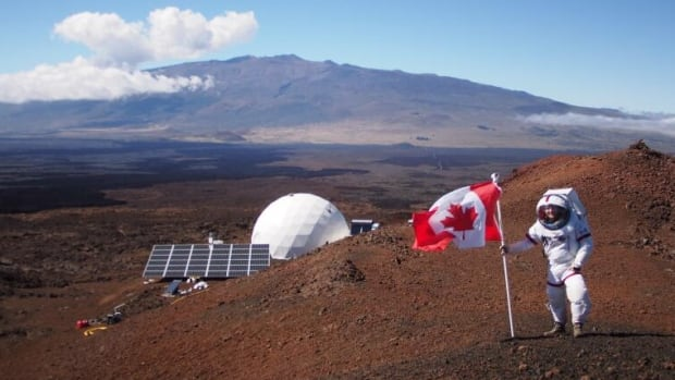 This is what Canada Day looks like on Mars— or, rather, on the HI-SEAS Mars simulator site on Mauna Loa in Hawaii.