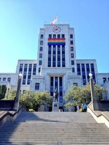 Vancouver City Hall Pride Flag