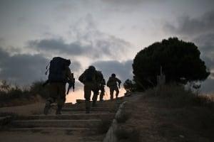 IDF patrol near Gaza Strip