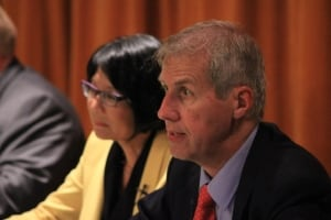 Olivia Chow and David Soknacki at July 28 debate