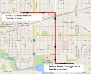 Queen city ex parade map