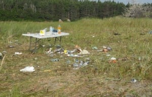 Musgrave Harbour Banting Memorial Park garbage left behind