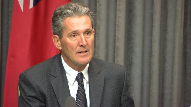 Brian Pallister says a new outlet to drain water from Lake Manitoba should only take three years to build, not seven, as the NDP government has planned.