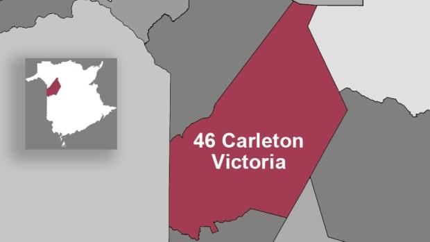 Carleton-Victoria riding map