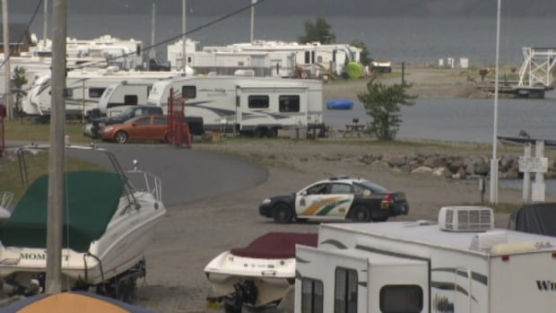 Police are trying to determine why a young man jumped from a moving vehicle at Ben Eoin Beach Campground Tuesday morning.