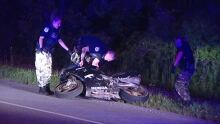 Motorcycle crash high speed chase Gatineau July 29, 2014