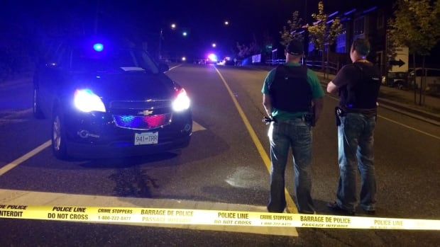 Police investigate a homicide on 240 Street in Maple Ridge late Tuesday night.
