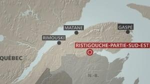 Map Ristigouche-Sud-Est
