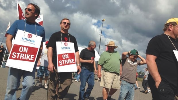 About 900 members of Unifor Local 1075 in Thunder Bay have been on strike for the last few weeks.