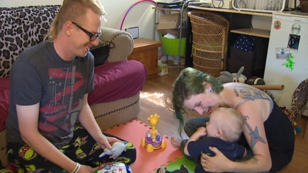 Justin and Sarah Hunter were concerned Sarah's employment insurance was cut off early after the birth of their son Mason.