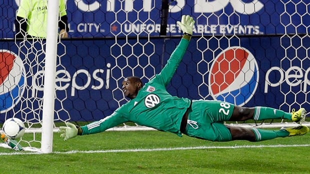 D.C. United keeper Bill Hamid tied a career high with eight saves in a 3-0 win over Toronto FC at RFK Stadium on Wednesday.