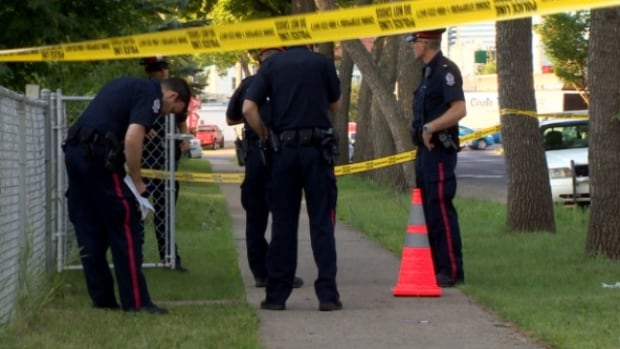 A man was taken to hospital with a single gunshot wound after he was found on the median of 97th Street just north of 111th Avenue.