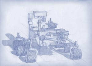 Mars 2020 rover drawing