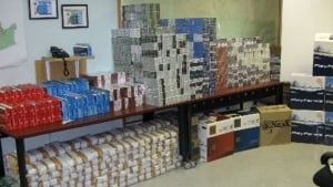 Contraband cigarettes seized by RCMP