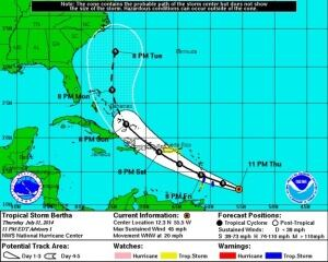 Tropical storm Bertha