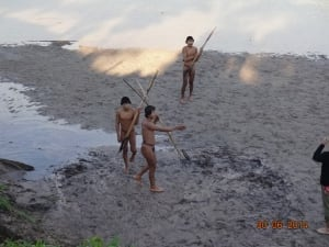 Uncontacted tribe Indians Amazon