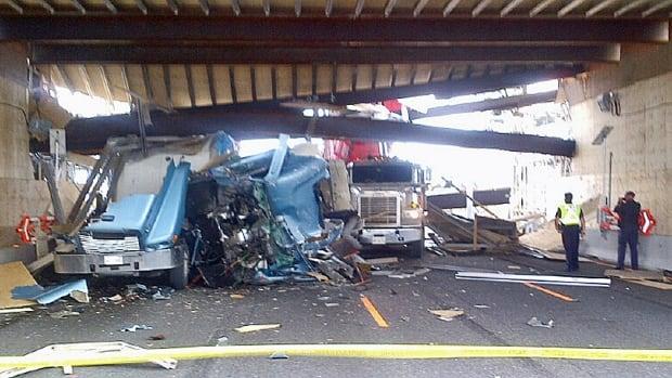 Burlington Skyway damaged