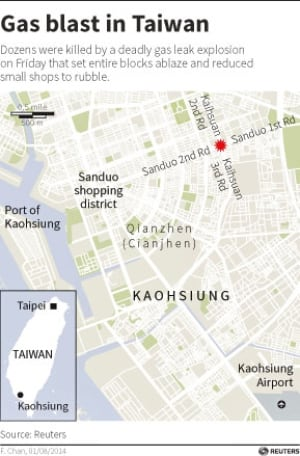 Taiwan-gas-blast-map