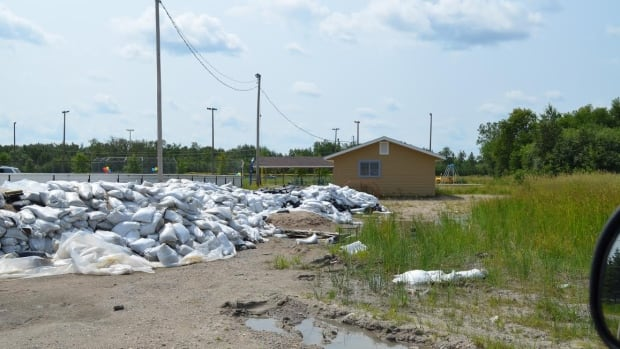 Couchiching Chief Sara Mainville said about 34,000 sandbags must now be removed from spots around the community.