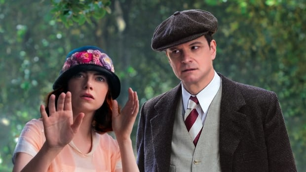 Emma Stone and Colin Firth in a scene in Woody Allen's new movie Magic in the Moonlight.