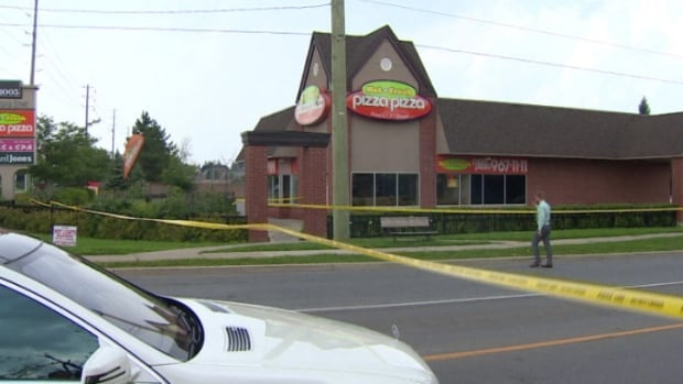 Police on the scene of an unexplained death in Brampton, Ont.