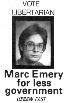 Marc Emery election flyer 1980