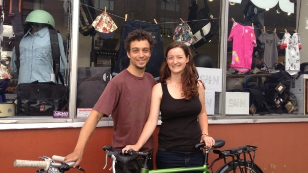 Heather Forbes and Chris Guinchard found love when they met at a Vancouver bike shop where Chris works as a mechanic.