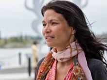 Michelle Thrush's alter ego is Majica, the aboriginal healing clown.